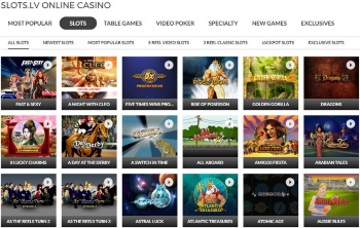 Slots.lv Offers around 400 Gaming Titles to Choose From